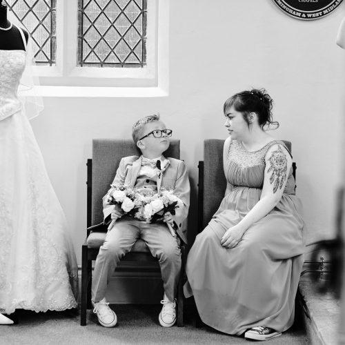 Family moment wedding ceremony