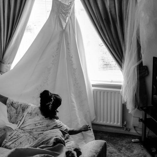 Documentary Wedding Dress Photography